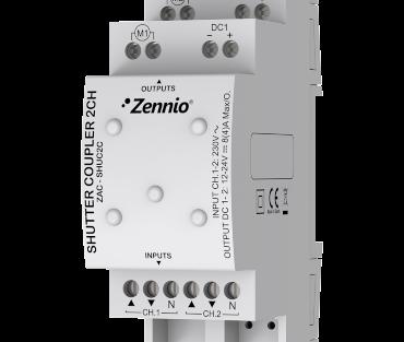 کوپلر پرده 2 کانال KNX Zennio